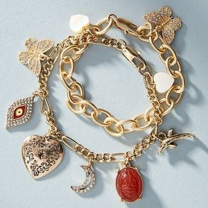 Anthropologie Charm Bracelet Set